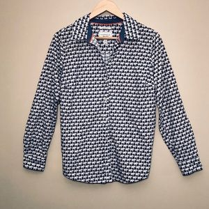 Charter Club Elephant Button Down Top